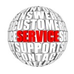 icon displaying words related to customer service and support