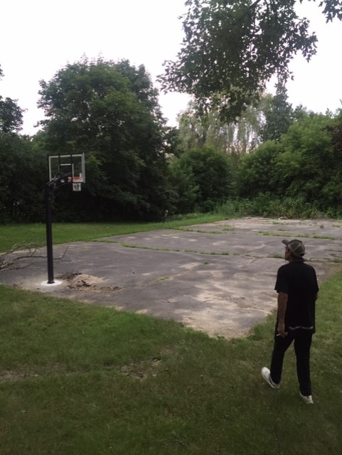 Basketball Court Before
