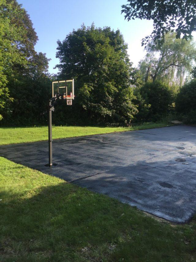Freshly Sealed Basketball Court